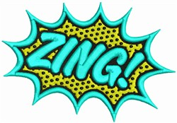 Zing! embroidery design