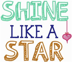 Shine Like Star embroidery design