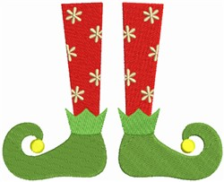 Elf shoes embroidery design
