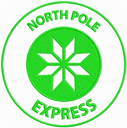 North Pole Express embroidery design