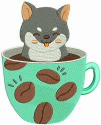 Shiba Pup embroidery design
