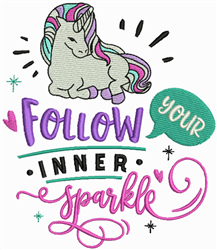 Inner Sparkle embroidery design
