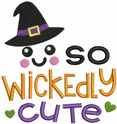 So Wickedly Cute embroidery design