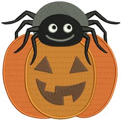 Pumpkin & Spider embroidery design