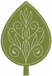 Filigree Green Leaf embroidery design