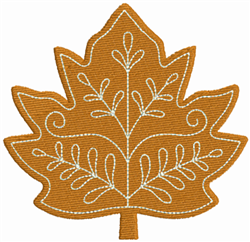 Yellow Leaf embroidery design
