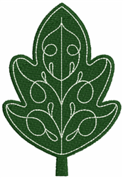 Green Leaf embroidery design