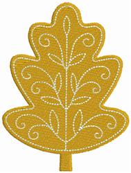 Gold Leaf embroidery design