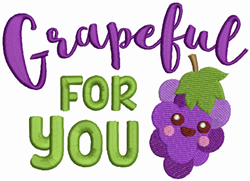 Grapeful For You embroidery design