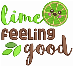 Lime Feeling Good embroidery design