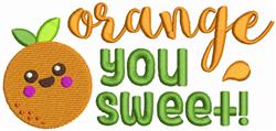 Orange You Sweet embroidery design