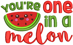 One In A Melon embroidery design