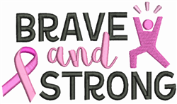 Brave And Strong embroidery design