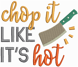 Chop It embroidery design
