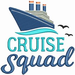 Cruise Squad embroidery design
