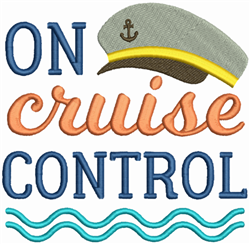 On Cruise Control embroidery design
