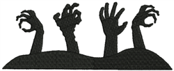 Zombie Hands embroidery design