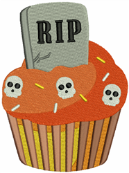 RIP Cupcake embroidery design