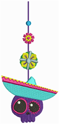 Day of the Dead - Bookmark embroidery design