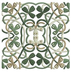 Celtic Flower Quilt Square embroidery design