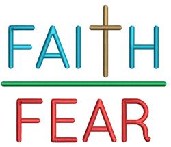 Faith and Fear embroidery design