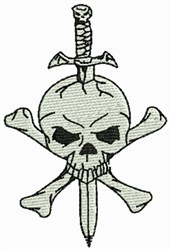 Skulls and Bones embroidery design