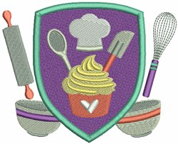 Baking Crest embroidery design