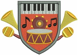 Music  Crest embroidery design