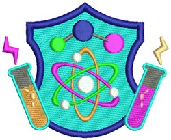 Science Crest embroidery design