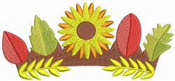 Autumn Crown embroidery design