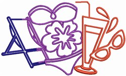 Summer Vacation embroidery design