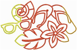 Summer Clothes embroidery design