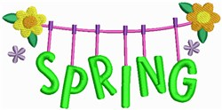 Spring Clothesline embroidery design