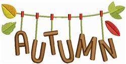 Autumn Clothesline embroidery design
