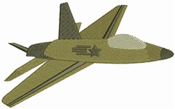 US Air Force Jet embroidery design