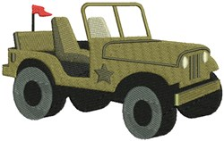Army Jeep embroidery design