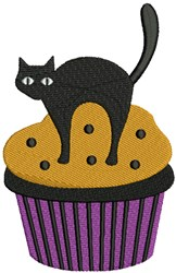 Halloween Cat & Cupcake embroidery design