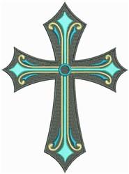 Christian Ornate Cross embroidery design