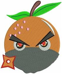 Orange Ninja embroidery design