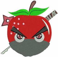 Apple Ninja embroidery design