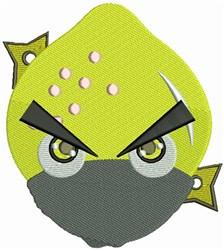Lemon Ninja embroidery design