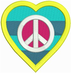 Love Peace Sign embroidery design