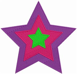 Hippie Star embroidery design