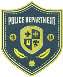Police Department Badge embroidery design