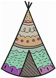 Tee Pee embroidery design