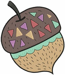 Decorated Acorn embroidery design