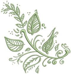 Spring Leaf embroidery design