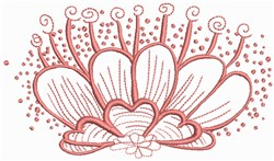 Coral Flower embroidery design