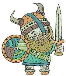 Viking Warrior embroidery design