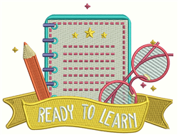 Ready To Learn embroidery design